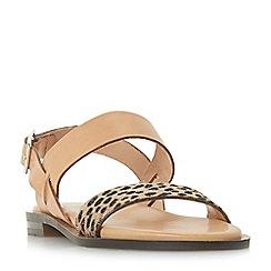 Dune Black - Multicoloured leather 'Leorra' ankle strap sandals