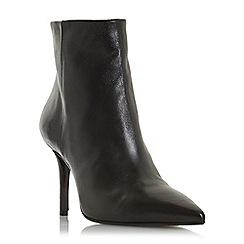Dune Black - Black leather 'Oconnor' high stiletto heel ankle boots