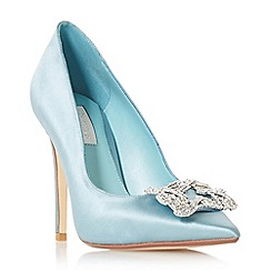 Dune - Blue satin 'Breeanna' high stiletto heel court shoes
