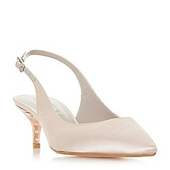 Dune - Taupe 'Crystal' mid kitten heel court shoes