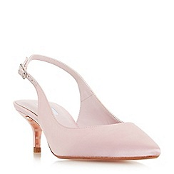 Dune - Pale_pink 'Crystal' mid kitten heel court shoes