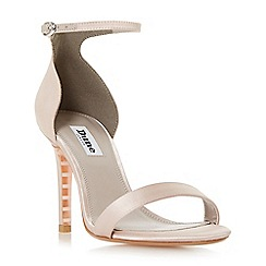 Dune - Taupe 'Maides' high stiletto heel ankle strap sandals