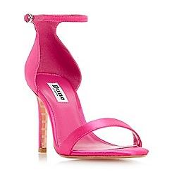 Dune - Bright pink 'Maides' high stiletto heel ankle strap sandals
