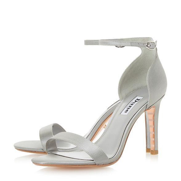 heel ankle sandals Dune high grey Light 'Maides' strap stiletto gnaRFn