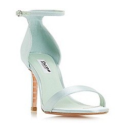 Dune - Light green 'Maides' high stiletto heel ankle strap sandals