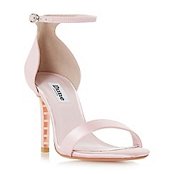 Dune - Pale pink 'Maides' high stiletto heel ankle strap sandals