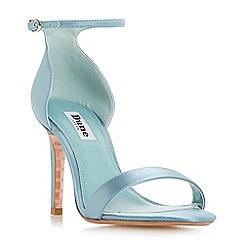 Dune - Pale blue 'Maides' high stiletto heel ankle strap sandals