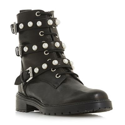 Dune - Black leather 'Risky' biker boots