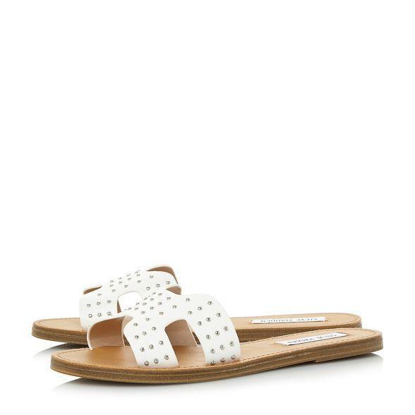 slippers 'Lisa Madden stud' White Steve IwqY7S0