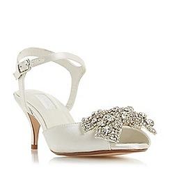 Dune - Ivory satin 'Majestiie' stiletto heel court shoes