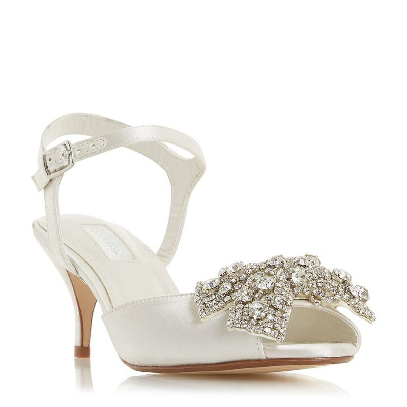 Dune - Ivory Satin Majestiie Stiletto Heel Court Shoes