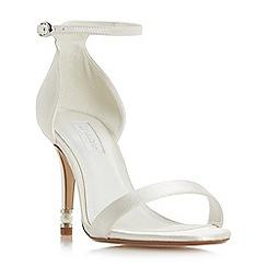 Dune - Ivory satin 'Marellda' high stiletto heel ankle strap sandals