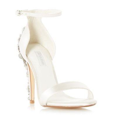 Dune   Ivory Satin 'marriied' High Stiletto Heel Court Shoes by Dune
