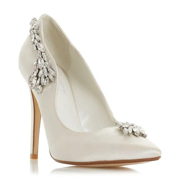 court 'Bestowedd' satin Ivory stiletto high Dune shoes heel TY6q1