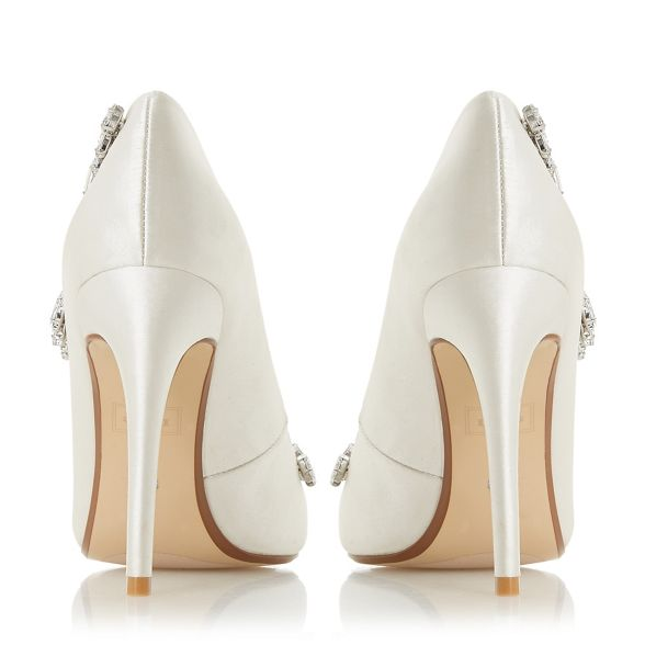 court 'Bestowedd' satin Ivory stiletto high Dune shoes heel TY6q1