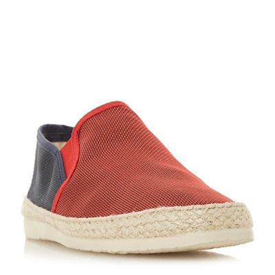 Dune - Red 'Fincho' mesh woven espadrilles shoes