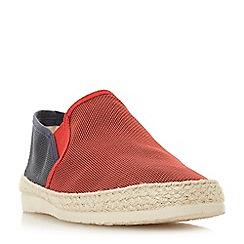 Dune - Red 'Fincho' mesh woven espadrilles shoes