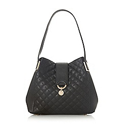 Dune - Black 'Diamh' quilted hobo shoulder bag