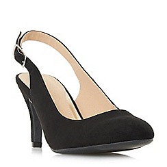 Head Over Heels by Dune - Black 'Carrla' mid stiletto heel court shoes