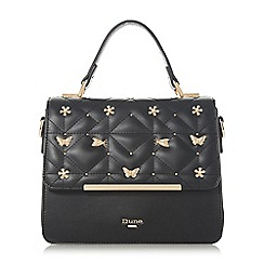 Dune - Black 'Dutterfly' butterfly detail box bag