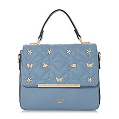 Dune - Blue 'Dutterfly' butterfly detail box bag