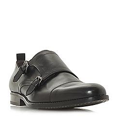 Bertie - Black 'Paneer' toecap double buckle monk shoes
