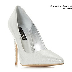Dune - Silver 'Bryleighh' high stiletto heel court shoes