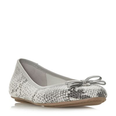 Dune - Grey leather 'Harps' pumps