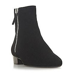 Dune - Black suede 'Pixon' ankle boots