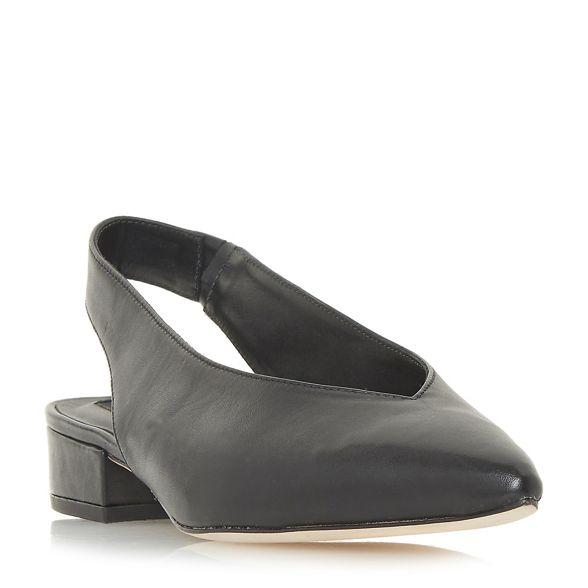 Black leather court Dune Black 'Chiara' shoes HqdERTx