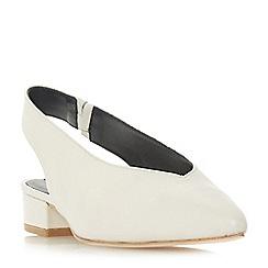 Dune Black - White leather 'Chiara' court shoes