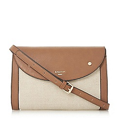Dune - Tan 'Eldor' raffia cross body bag