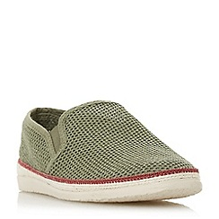 Bertie - Khaki 'Fresh' mesh detail espadrille shoes