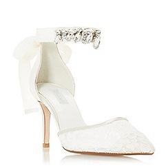 Dune - Ivory 'Chappel' mid stiletto heel court shoes