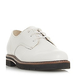 Dune - White leather 'Finnly' brogues