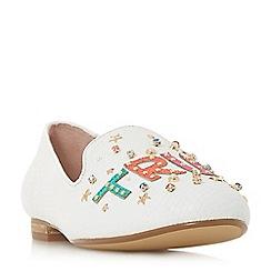 Dune - White leather 'Glitza' shoes