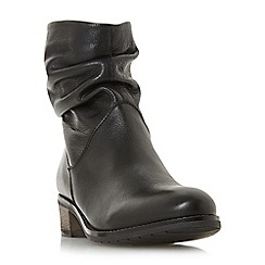 Dune - Black leather 'Pagers' ankle boots