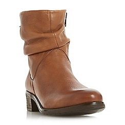 Dune - Brown leather 'Pagerss' ankle boots