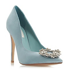 Dune - Blue satin 'Blesing' high stiletto heel court shoes