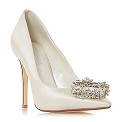 Dune - Ivory satin 'Blesing' high stiletto heel court shoes