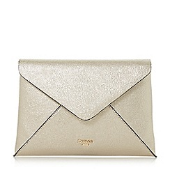 Dune - Gold 'Enria' envelope clutch bag