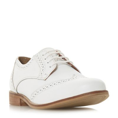 Dune - White leather 'Foxxy' brogues