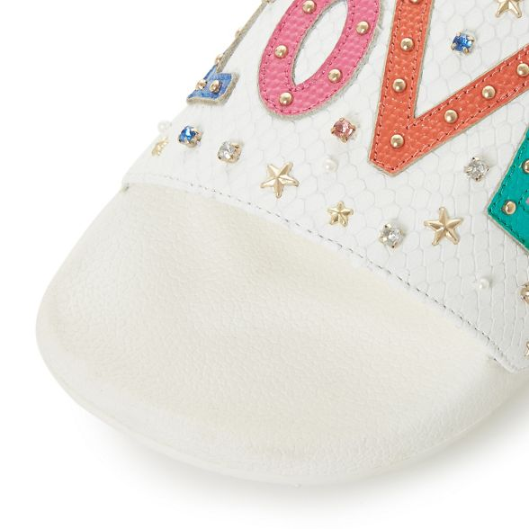 White Dune 'Love2love' White White sandals sandals Dune 'Love2love' leather Dune leather leather 5wEYXxq7H
