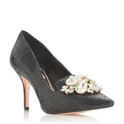 Dune - Black 'Bordeaux' mid stiletto heel court shoes