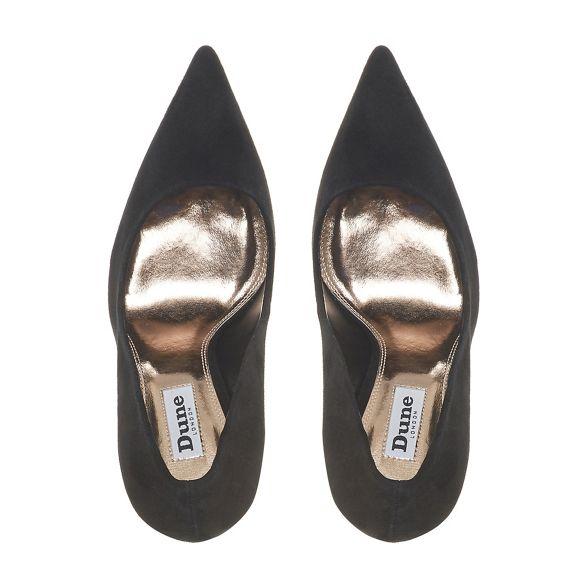 court heel high Black stiletto 'Amaretti' shoes Dune TXnUx6X
