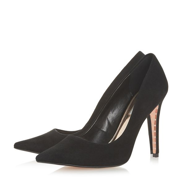 court heel high Black stiletto 'Amaretti' shoes Dune TXnUx6X