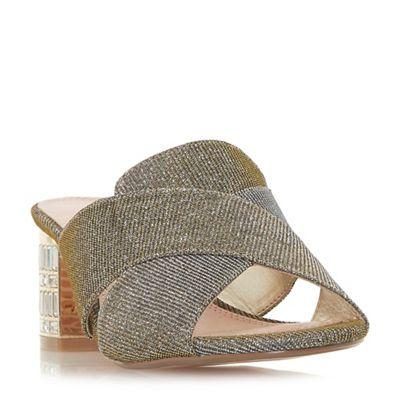Dune - heel Bronze 'Matotte' mid block heel - mules 8d258a