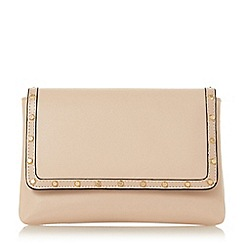 Dune - Natural 'Borriss' studded clutch bag
