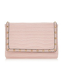Dune - Light pink 'Borriss' studded clutch bag