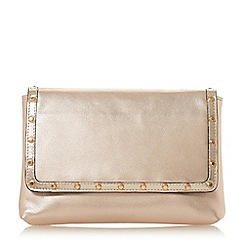 Dune - Rose 'Borriss' studded clutch bag
